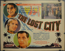 LOST CITY 1935 ORIG 22X28 MOVIE POSTER WILLIAM BOYD CLAUDIA DELL KANE RICHARD