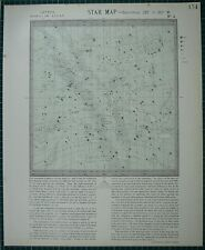 1883 LETTS STAR MAP & CONSTELLATIONS ~ ASTRONOMY SAGITTARIUS HERCULES SERPENS