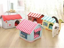 New Pet Dog Cat House Beds Kennel Folded indoor House Tent Mat Puppy Kitty M