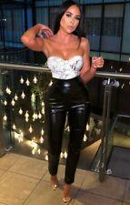 Femme Luxe Animal Snake Print PU Corset Top Amy XS 6