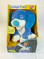 Flashlight Friends Hug-able Led Flashlight Nightlight Stuffed Animal ~Blue Puppy