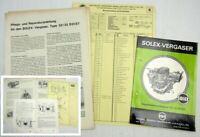 Solex 32/32 DDIST Vergaser Betriebsanleitung Ersatzteilliste Reparatur Ford 20M