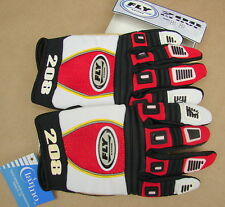 New NWT FLY 208 Motocross BMX Racing Gloves Size Small Adult 8 Red Black 36-3608