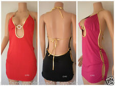 SEXY BACKLESS MINI DRESS CLUBBING REVEALING CLUBWEAR DARING COCKTAIL OPEN SIDE