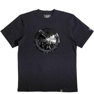 Peaceful Hooligan T-Shirt Love Terrace Print Crew Neck - Navy Blue