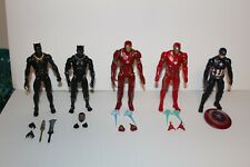 Lot of 11 Marvel Legends loose Captain America, Iron Man, Black Panther