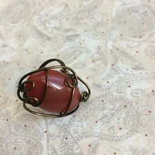 Carnelian ring in bronze wire. Size 6.5. Wirequeen