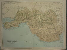 1875 ANTIQUE WALES WELSH COUNTY MAP ~ GLAMORGAN SWANSEA GOWER NEATH BRIDGEND