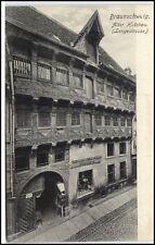 BRAUNSCHWEIG um 1910/20 AK Alter Holzbau Langestrasse Möbel Magazin H. Düvel
