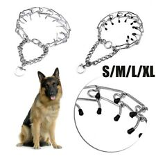 Adjustable Dog Training Collar Chain Pet Supply Metal Steel Prong Pinch Choke~