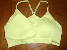 BNWOT ladies yellow Reebok sports bra. Removeable pads. X-large