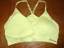BNWOT ladies yellow Reebok sports bra. Removeable pads. X-large