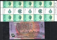 Australia Last Folder 30 Years Decimal Currency $5 QE96 002122 +QE2 Stamps Sheet