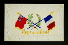 WW1 Silk Postcard Hope and Love Old Heath Road Colchester Essex CO1