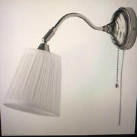 IKEA Arstid Wall Lamp Sconces Lights with Adj Head Set of 2 Bed Bath w/Shades