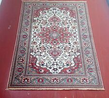 Vintage Hand Woven Turkish Gheisari Medallion Rug