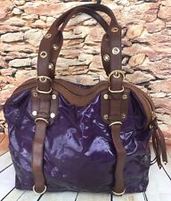 MZ Wallace NY Handbag Bella Purple Double Buckles Tassel Grommet Handles Retired