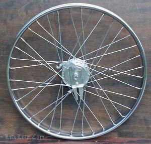 "26"" Chopper Cruiser Bicycle Front WHEEL Drum Brake Hub Vintage Schwinn Bike Atom"