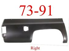 73 91 Chevy Suburban Right 3/4 Quarter Panel Skin with Square Fuel Hole