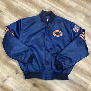 CHICAGO BEARS NFL FOOTBALL VINTAGE 80s STARTER SATIN JACKET XL
