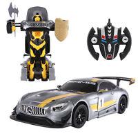 2.4G RC Radio Remote Control Mercedes-Benz Transformer Robot Drifting Car Gift