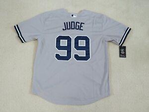 NY YANKEES #99 JUDGE Stitch Road Gray Jersey Men L NEW Sweet^