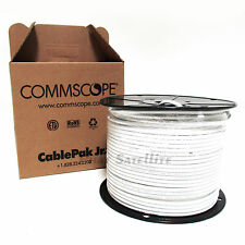 CommScope RG6 WHITE Coaxial Cable 500FT PULL BOX PROFFESSIONAL 18GA MADE IN USA
