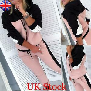 Womens Ladies Casual Tracksuit Tops Pant Set Gym Jogging Sports Suit Lounge Wear