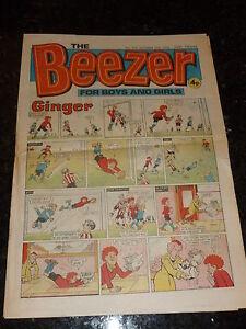 The BEEZER Comic - No 979 - Date 19/10/1974 - UK Paper comic
