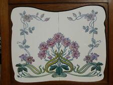 Jugendstil Fliese art nouveau tile V&B Dresden 1916 Nelken Ackerwinde  rar top