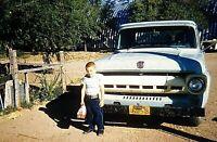 SM15 ORIGINAL KODACHROME 1960s 35MM CLASSIC TRUCK FORD California Kid Lunch box