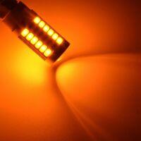 7443, Lampadine A LED T20 Giallo Ambra 900 Lumens Segnali Di Svolta Super L H4S4