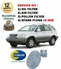 FOR LEXUS RX300 3.0 2000-2003 SERVICE KIT OIL AIR POLLEN FILTER + SPARK PLUG SET