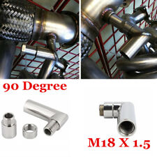 Lengthened Universal 90° O2 Oxygen Sensor Extension Spacer Bung 02 M18 x 1.5