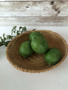 4 Artificial Faux Green Limes Fake Fruit Home Decor Theater Prop Staging