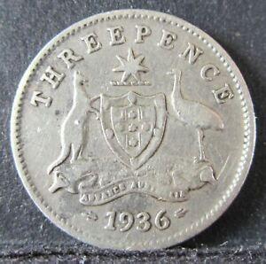 1936 Australia 3d Threepence #NY23