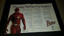 The Flash Rare Original CBS TV Promo Poster Ad Framed!