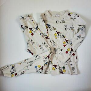 Hanna Andersson Peanuts Snoopy pajamas pants long sleeve 120 6 7 flaws play