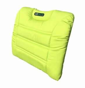 SITBACK AIR Fahrzeug Rückenkissen mit aufblasbarem Luftkissen Stoff neon grün