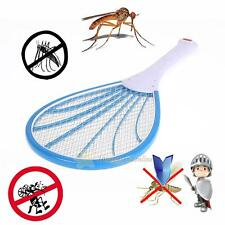 Electric Handheld Mosquito Fly Swatter Bug Pest Insect Wasp Racket Zapper Blue