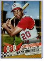 Frank Robinson 2020 Topps Decades Best 5x7 Gold #DB-7 /10 Reds