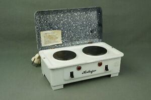 HEILIGER antiker Kinderherd Puppenherd Emaille mit 2 Platten