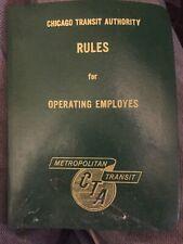 CTA Operating Rule book 1962 Transportation
