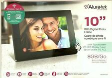 "Aluratek AWDMPF110F 10"" WiFi Black Digital Photo Picture Frame Touchscreen 8 GB"