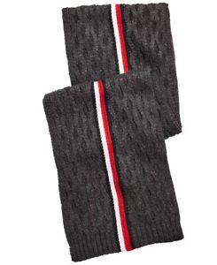Tommy Hilfiger Men's Ski Patrol Striped Scarf Gray Size Regular