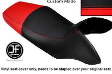 BLACK & RED VINYL CUSTOM FITS HONDA TRANSALP XL 700 V 08-12 DUAL SEAT COVER ONLY