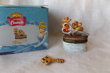 Disney Cinderellla Mice Gus and Jaq Porcelain Hinged Trinket Box