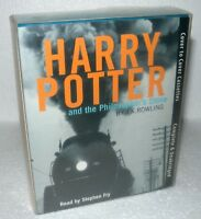 HARRY POTTER Audio Cassette - Philosophers Stone - Stephen Fry, Boxed Set