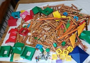 Vintage Lincoln Logs - Mixed Lot of 400+ pieces!
