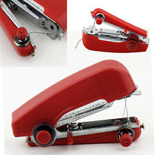 Mini Portable Máquina De Coser Mano Rojo Pequeño Sin cables con Hilo